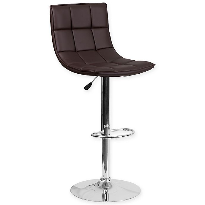 Flash Furniture Quilted Height Adjustable Vinyl Bar Stool