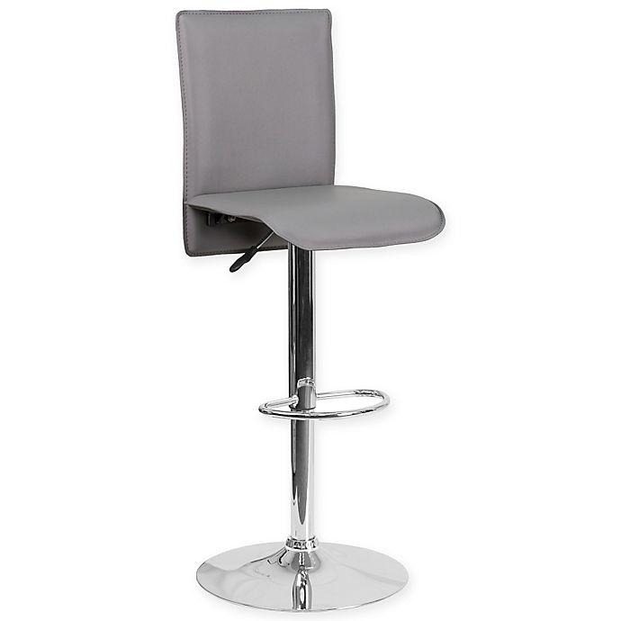 Alternate image 1 for Flash Furniture Contemporary Vinyl Adjustable Bar Stool in Grey