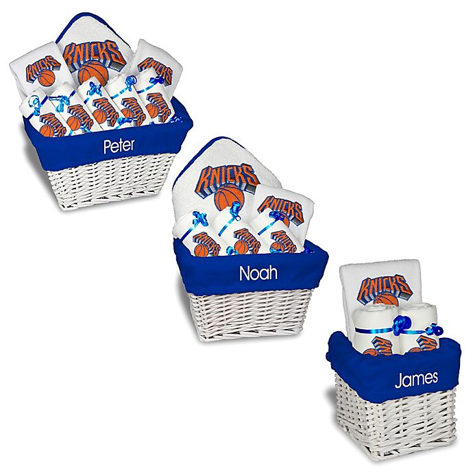 Alternate image 1 for Designs by Chad and Jake NBA Personalized New York Knicks Gift Basket in White