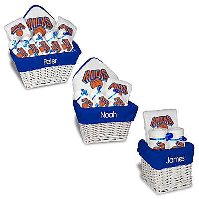 Designs by Chad and Jake NBA Personalized New York Knicks Gift Basket in White