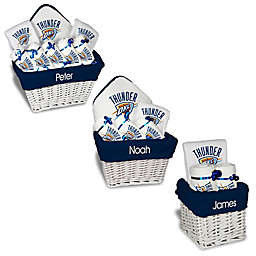 Designs by Chad and Jake NBA Personalized Oklahoma Thunder Gift Basket in White