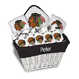 Designs by Chad and Jake NHL Personalized 8-Piece Chicago Blackhawks Large Gift Basket in White