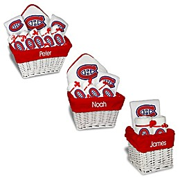 Designs by Chad and Jake NHL Personalized Montreal Canadiens Gift Basket in White