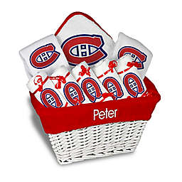 Designs by Chad and Jake NHL Personalized 8-Piece Montreal Canadiens Large Gift Basket in White
