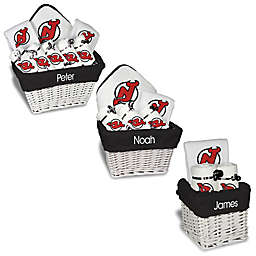 Designs by Chad and Jake NHL Personalized New Jersey Devils Gift Basket in White