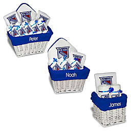 Designs by Chad and Jake NHL Personalized New York Rangers Gift Basket in White