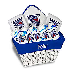 Designs by Chad and Jake NHL Personalized 8-Piece New York Rangers Large Gift Basket in White