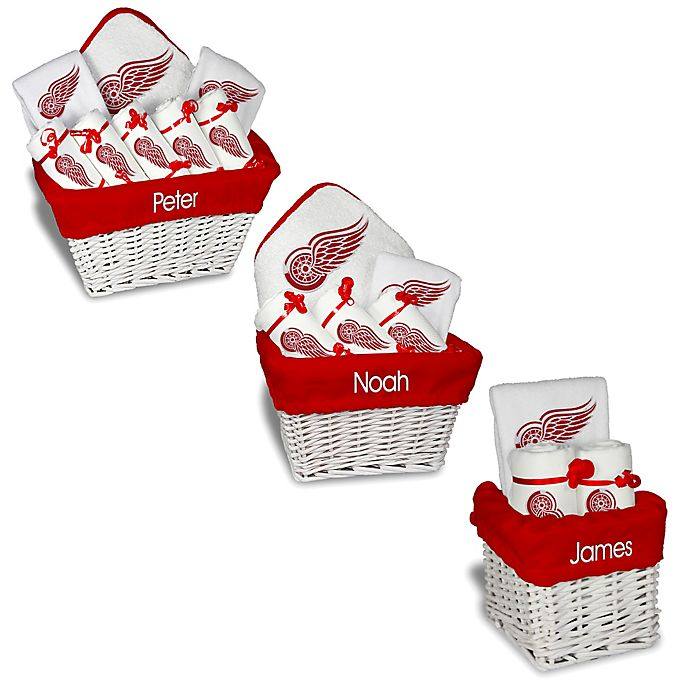 Alternate image 1 for Designs by Chad and Jake NHL Personalized Detroit Red Wings Gift Basket