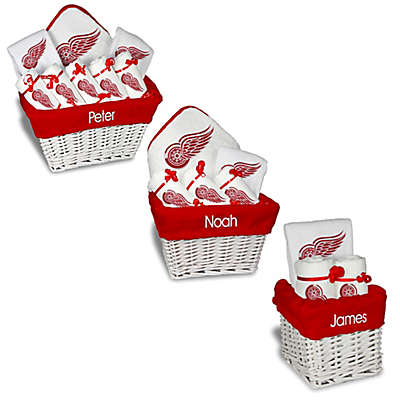 Designs by Chad and Jake NHL Personalized Detroit Red Wings Gift Basket