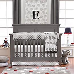 Liz and Roo Elephants 3-Piece Crib Bedding Set in Grey