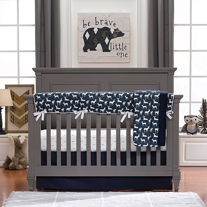 Alternate image 1 for Liz and Roo Woodland 3-Piece Crib Bedding Set in Navy