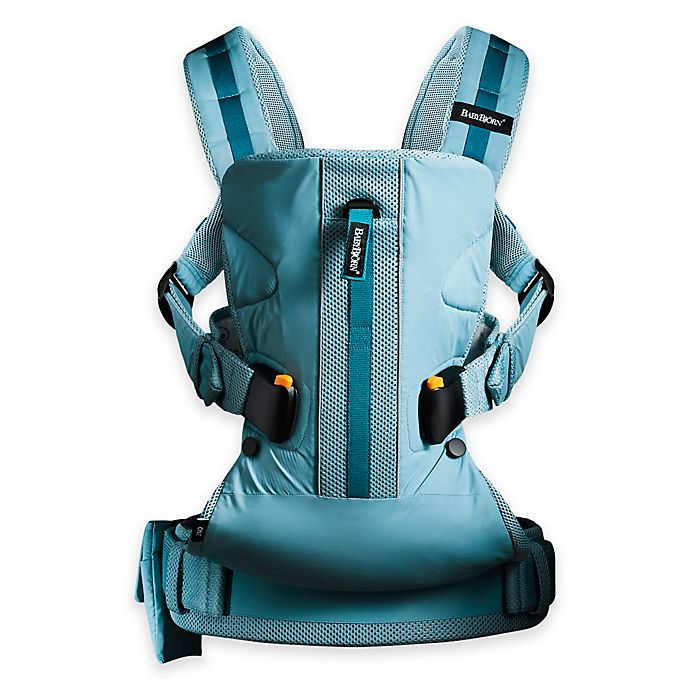 Alternate image 1 for BabyBjörn® Carrier One Outdoors Baby Carrier in Turquoise