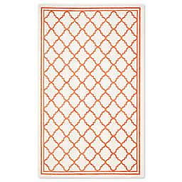 Safavieh Amherst 5-Foot x 8-Foot Quine Indoor/Outdoor Area Rug in Beige/Orange