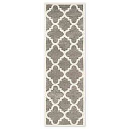 Safavieh Amherst 2-Foot 3-Inch x 9-Foot Geo Indoor/Outdoor Area Rug in Dark Grey