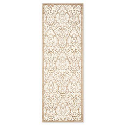 Safavieh Amherst 2-Foot 3-Inch x 7-Foot Medallion Indoor/Outdoor Area Rug in Wheat/Beige