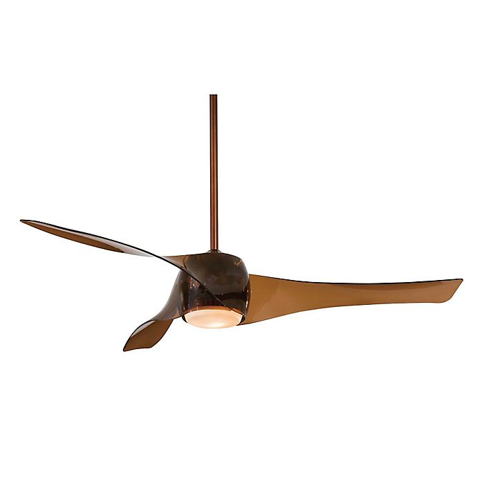 Alternate image 1 for Minka-Aire® Artemis™ LED 58-Inch Ceiling Fan in Copper Bronze