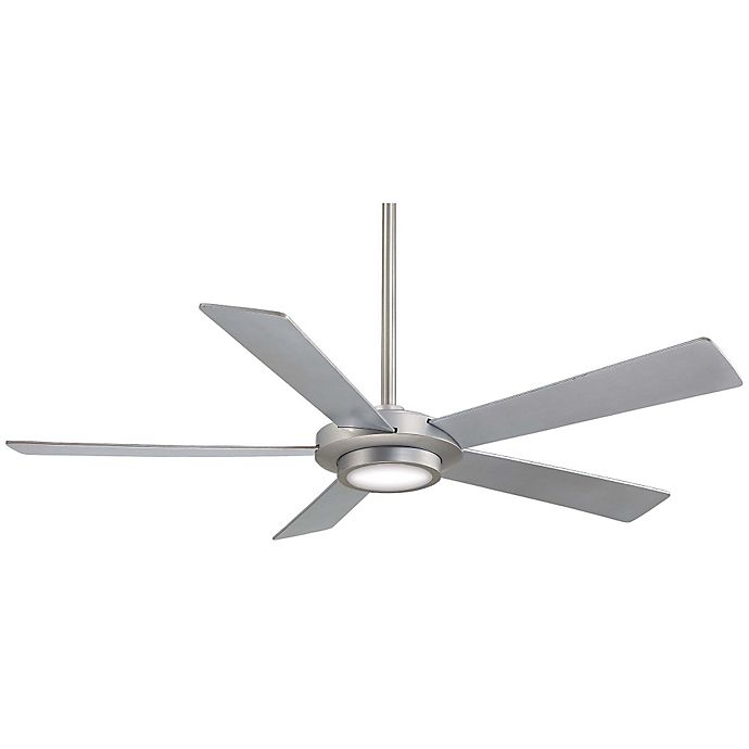Alternate image 1 for Minka-Aire® Sabot 52-Inch Ceiling Fan with Brushed Nickel Finish