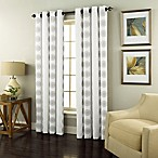 Spiral 95-Inch Grommet Top Window Curtain Panel in White