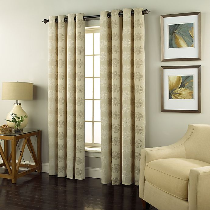 Alternate image 1 for Spiral 84-Inch Grommet Top Window Curtain Panel in Ivory