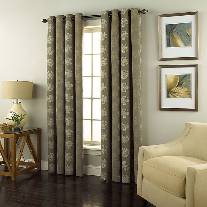 Buy Spiral 95-Inch Grommet Top Window Curtain Panel In