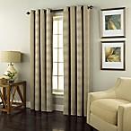 Spiral 95-Inch Grommet Top Window Curtain Panel in Beige