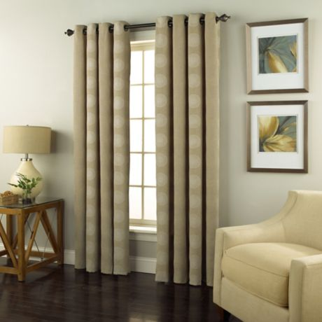 Spiral Grommet Top Window Curtain Panel Bed Bath Amp Beyond