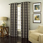 Spiral 84-Inch Grommet Top Window Curtain Panel in Charcoal