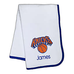 Designs by Chad and Jake NBA New York Knicks Personalized Baby Blanket