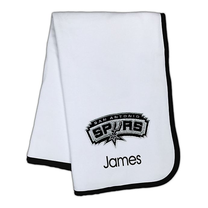 Alternate image 1 for Designs by Chad and Jake NBA San Antonio Spurs Personalized Baby Blanket