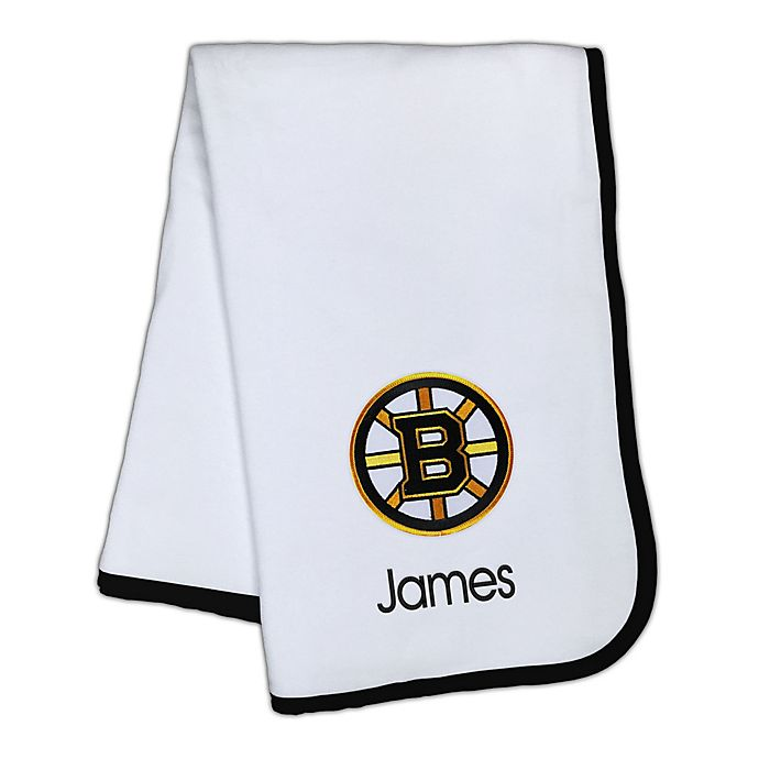 Alternate image 1 for Designs by Chad and Jake NHL Boston Bruins Personalized Baby Blanket