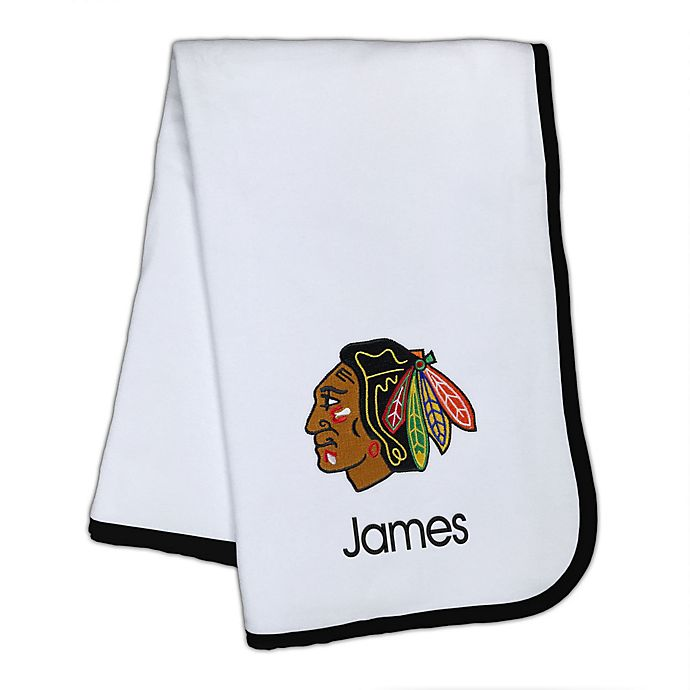 Alternate image 1 for Designs by Chad and Jake NHL Chicago Blackhawks Personalized Baby Blanket