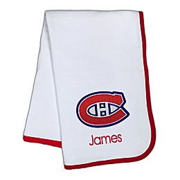 Designs by Chad and Jake NHL Montreal Canadiens Personalized Baby Blanket