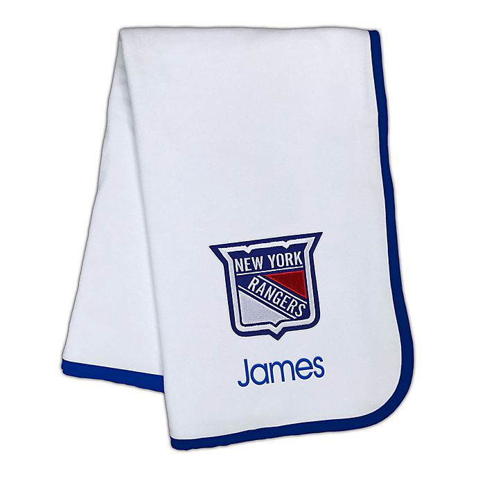 Alternate image 1 for Designs by Chad and Jake NHL New York Rangers Personalized Baby Blanket