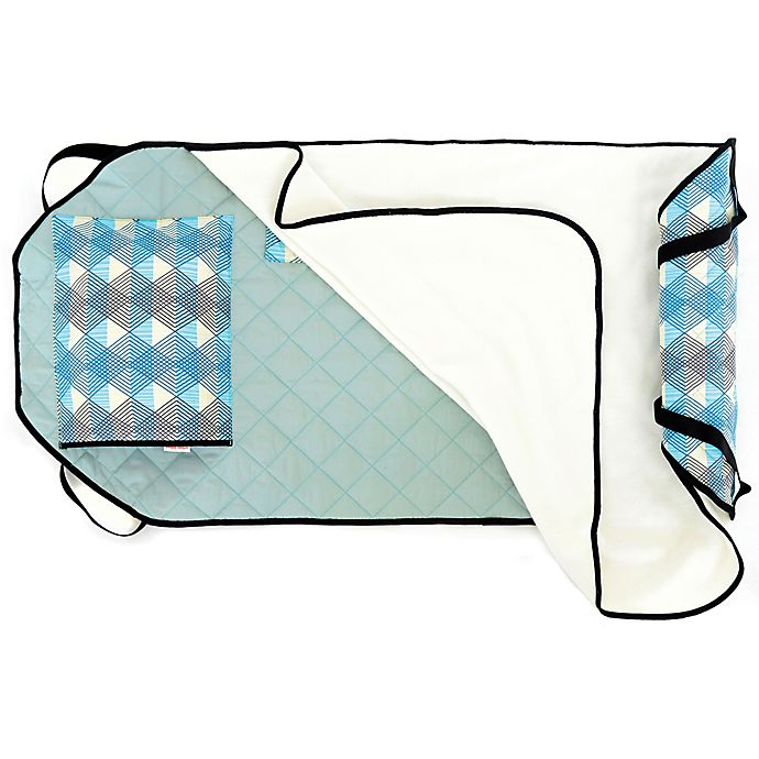 Urban Infant Seattle Tot Cot Toddler Nap Mat In Blue Bed