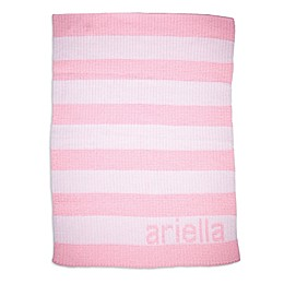 Butterscotch Blankees Striped Blanket in Pink/White