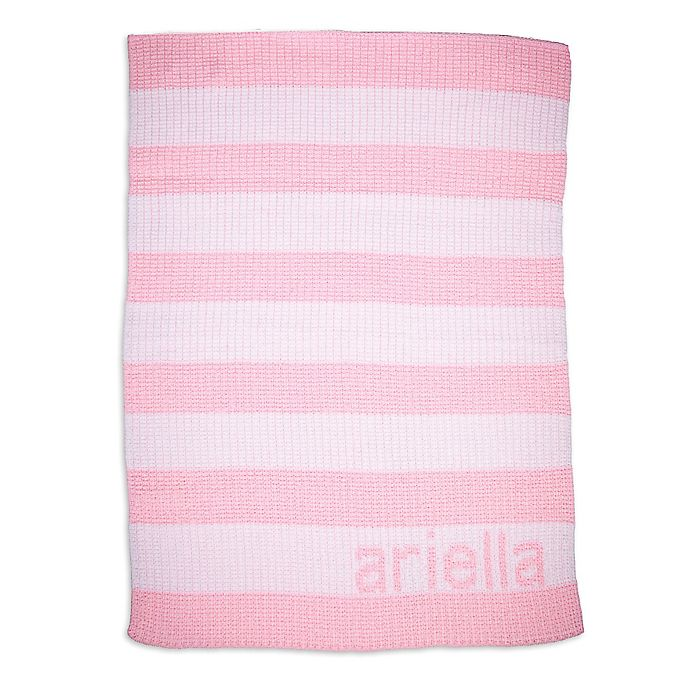 Alternate image 1 for Butterscotch Blankees Striped Blanket in Pink/White