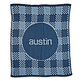 Butterscotch Blankees Gingham Blanket in Blue