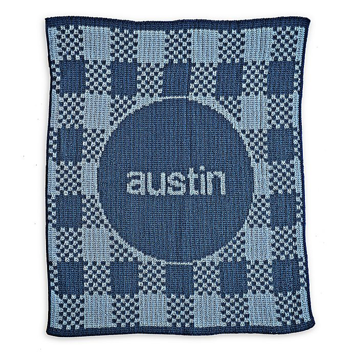 Alternate image 1 for Butterscotch Blankees Gingham Blanket in Blue