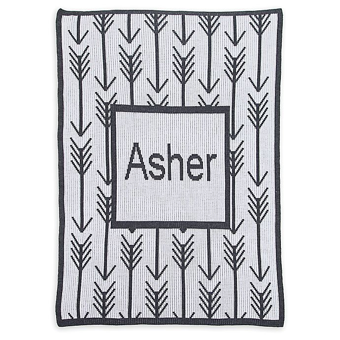 Alternate image 1 for Butterscotch Blankees Arrows & Arrows Blanket in Off White/Charcoal
