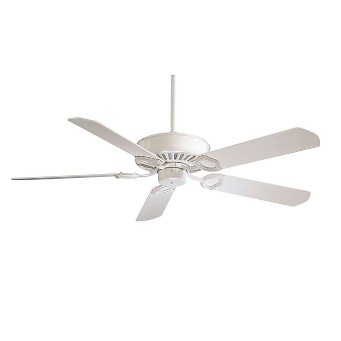 Alternate image 1 for Minka-Aire® Ultra-Max™ 54-Inch Indoor/Outdoor Ceiling Fan in White with Remote
