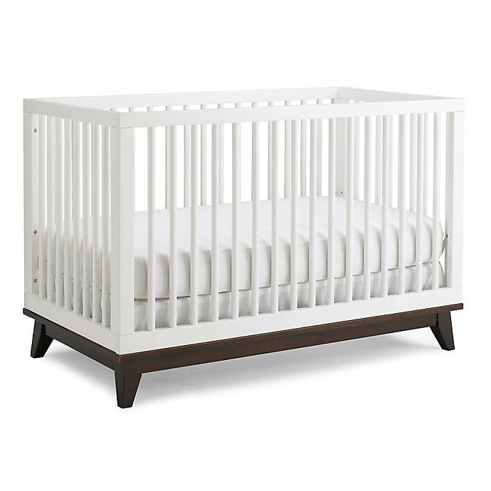 Ti Amo Moderna 3 In 1 Crib In Snow White Espresso Bed