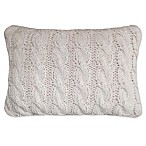 Park B. Smith Classic Cable Oblong Throw Pillow in Linen