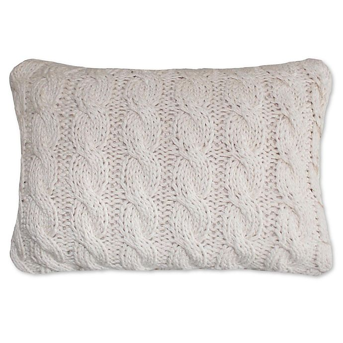 Alternate image 1 for Park B. Smith Classic Cable Oblong Throw Pillow