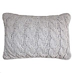 Park B. Smith Classic Cable Oblong Throw Pillow in Silver