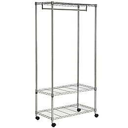 Safavieh Gordon Wire 3-Tier Garment Rack in Chrome