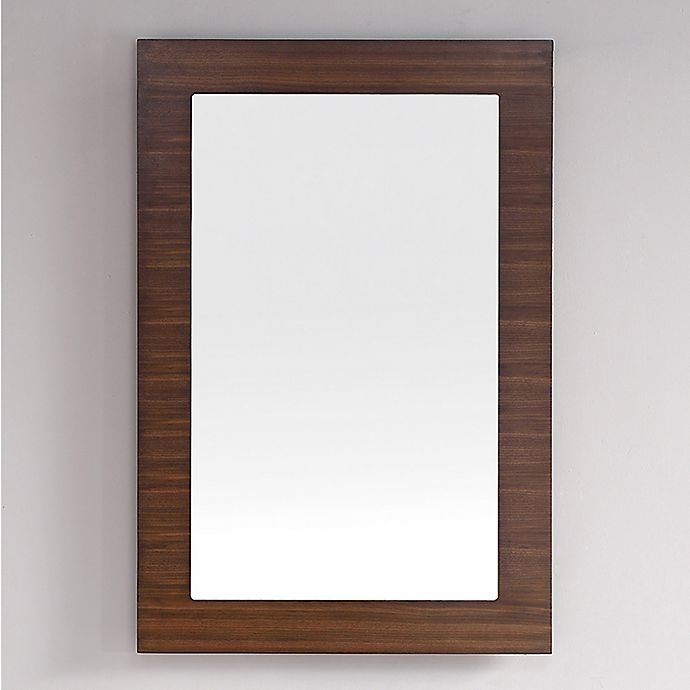 Alternate image 1 for James Martin Furniture Metropolitan 30-Inch Rectangular Wall Mirror in Walnut
