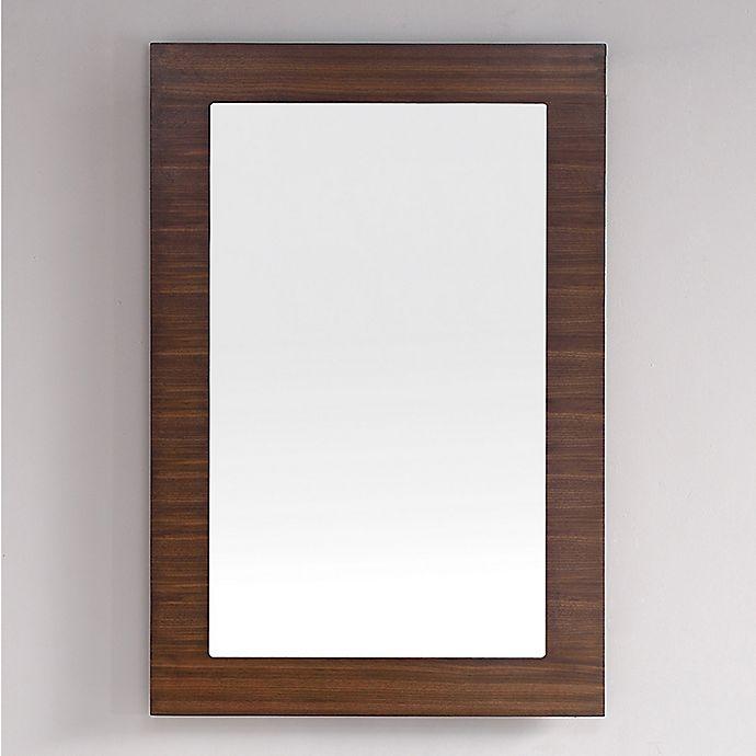 Alternate image 1 for James Martin Furniture Metropolitan 30-Inch Rectangular Wall Mirror in Walnut