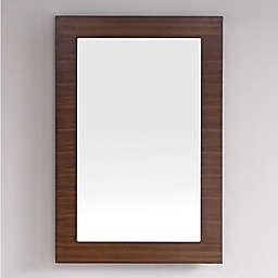 James Martin Furniture Metropolitan 30-Inch Rectangular Wall Mirror in Walnut
