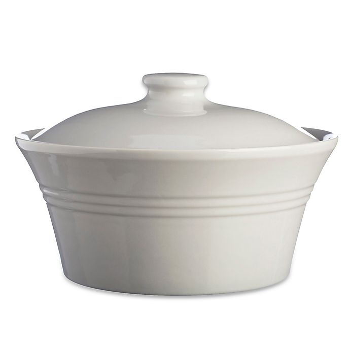 Alternate image 1 for Mason Cash® Classic Kitchen 2.25 qt. Casserole Dish with Lid in Grey