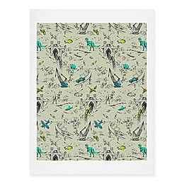 Deny Designs 11-Inch x 14-Inch Adventure Toile Art Print